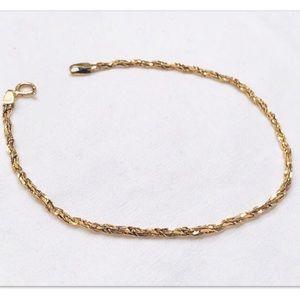 "Jewelry - NEW! 14k Italy yellow gold 7.25"" bracelet"